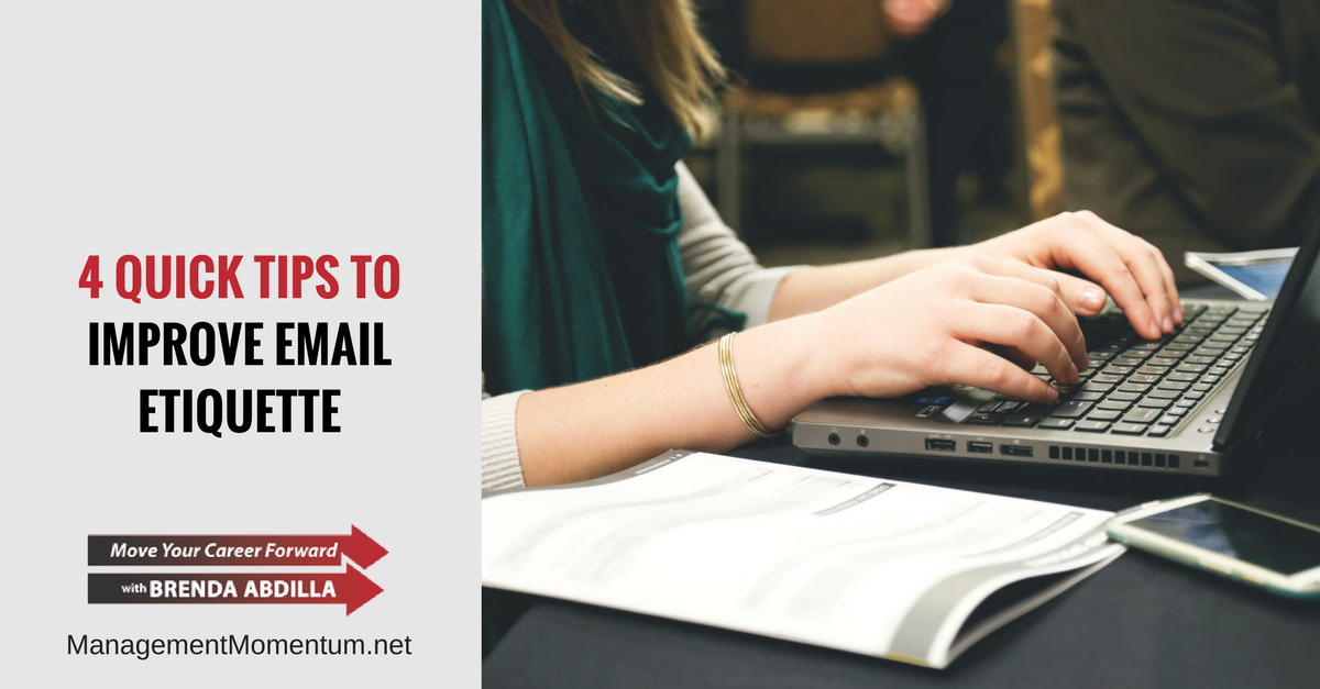 4 Quick Tips To Improve Email Etiquette