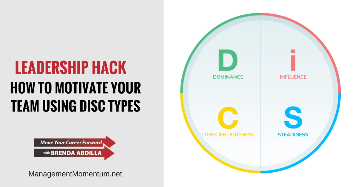 how to motivate your team using disc types
